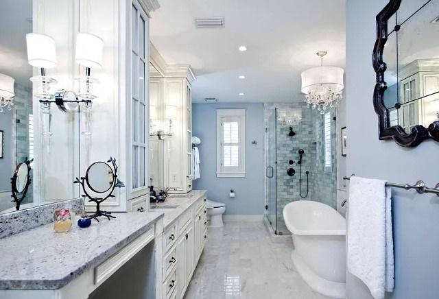 Вариант освещения в ванной