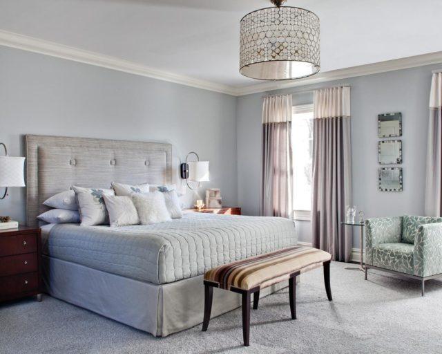 Люстра с двуспальной кроватью