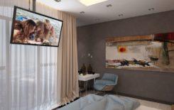 Как подвесить телевизор к потолку: обзор кронштейнов и самодельных креплений