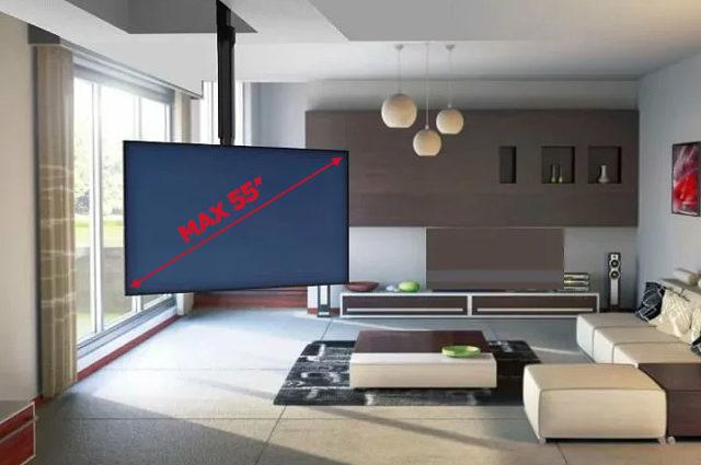 Максимальная диагональ экрана 55 дюймов