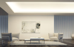 Варианты освещения комнаты с низким потолком