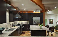 Идеи дизайна двухуровневых потолков на кухне