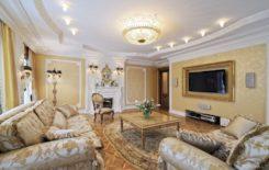 Дизайн потолка в классическом стиле: примеры в интерьере разных комнат
