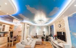 5 способов как сделать потолок в виде неба с облаками