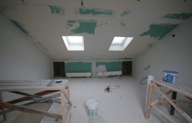 Потолок обшитый гипсокартоном