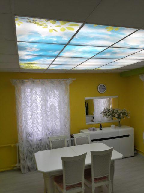 Светодиодное освещение в подвесном потолке