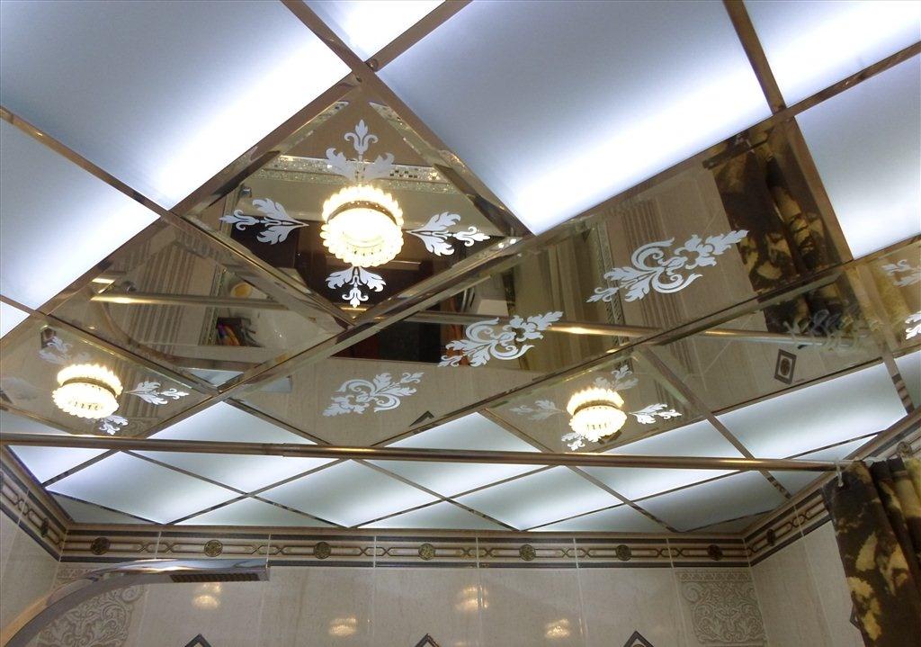 Точечные светильники в зеркальных панелях