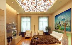 Как делают витражные потолки с подсветкой