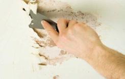 Удаление старой краски с потолка